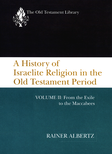 A History of Israelite Religion in the Old Testament Period, Volume II (1994)