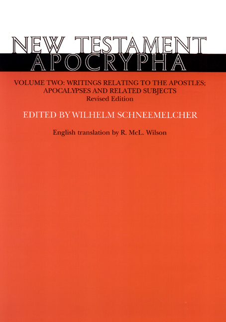 New Testament Apocrypha, Volume 2, Revised Edition