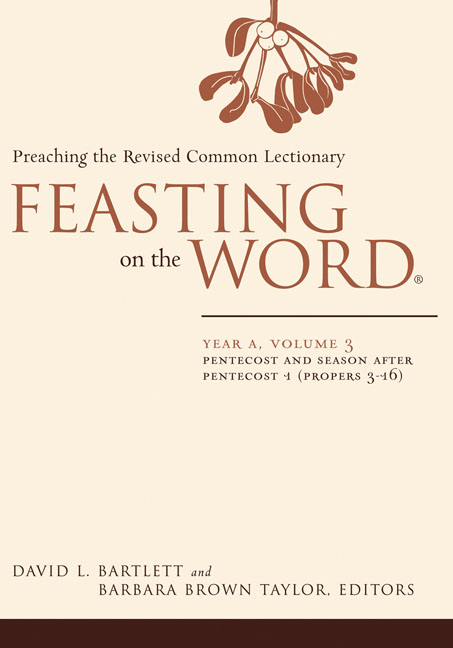 Feasting on the Word: Year A, Volume 3
