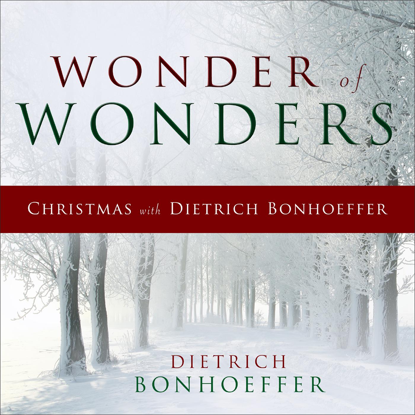 Wonder of Wonders Hardback - Dietrich Bonhoeffer : Westminster John ...