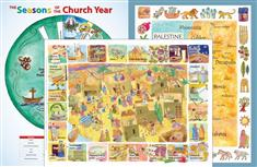 Teaching Poster 3 Set: Palestine in the Time of Jesus Map