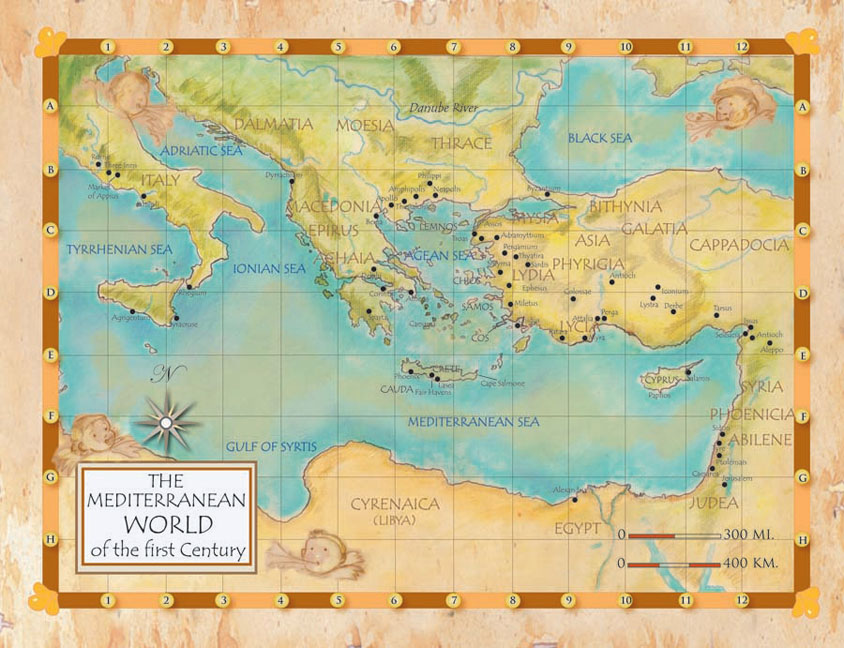 Mediterranean World of the First Century Poster