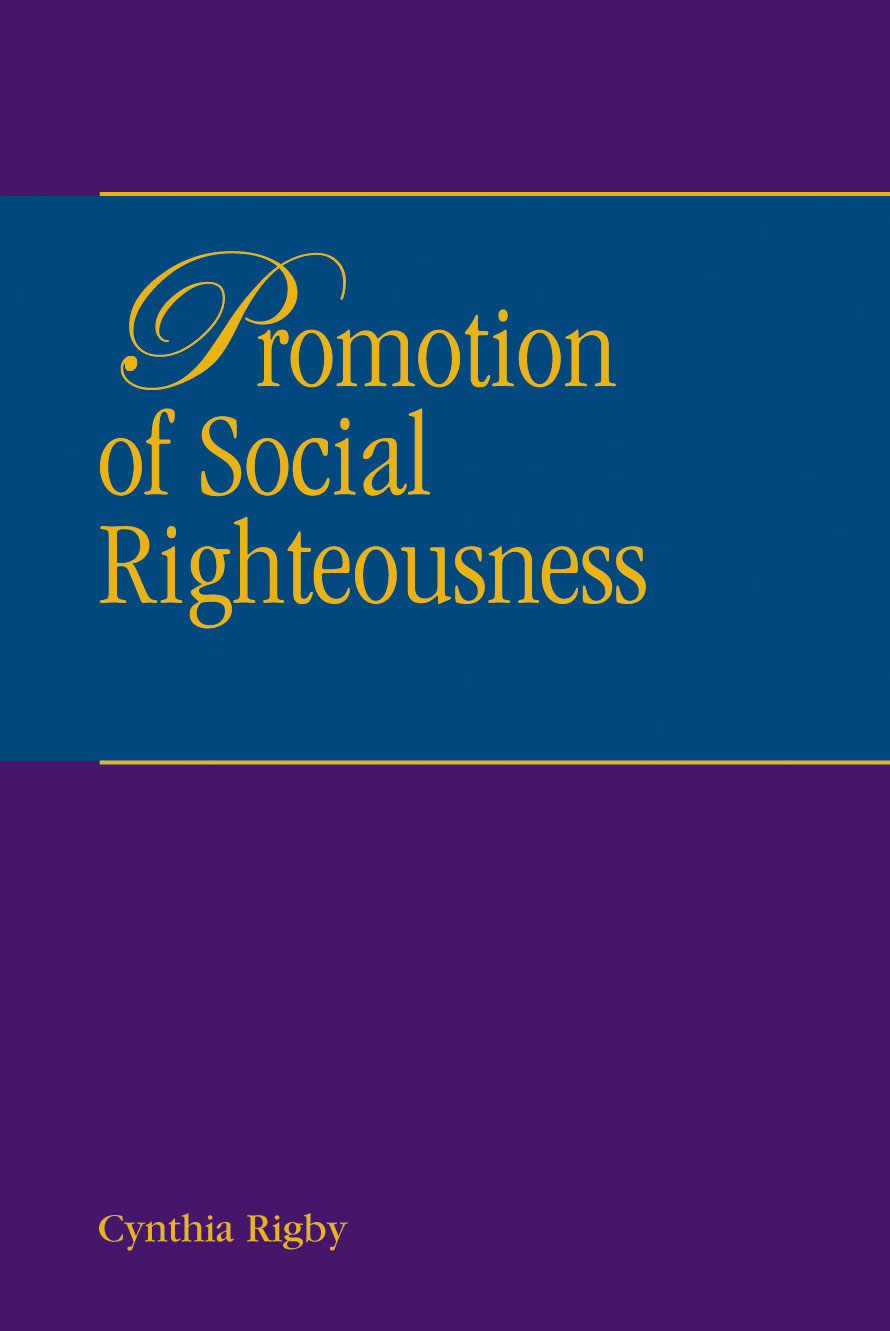 Promotion of Social Righteousness