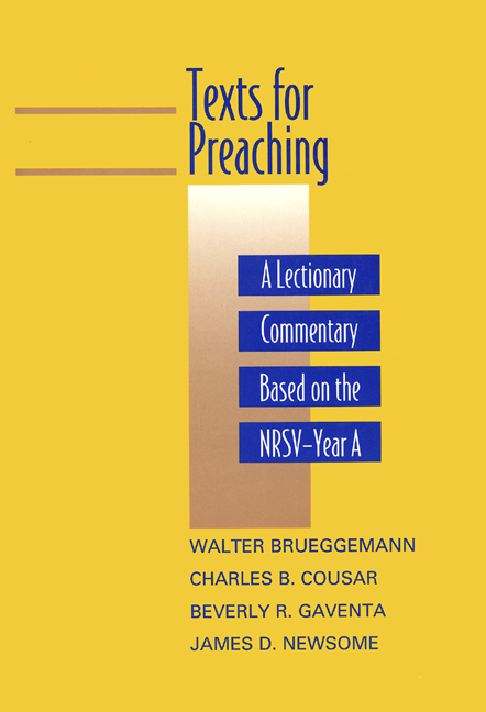 Texts for Preaching, Year A