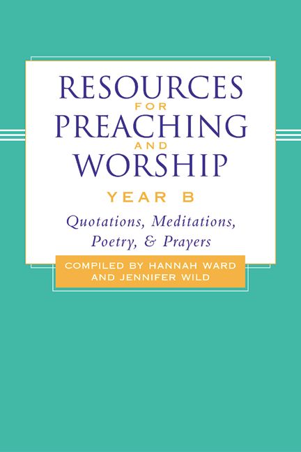 Resources for Preaching and Worship---Year B