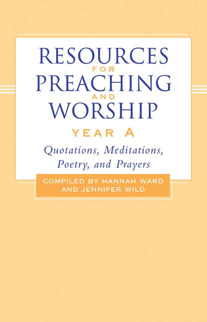 Resources for Preaching and Worship--Year A