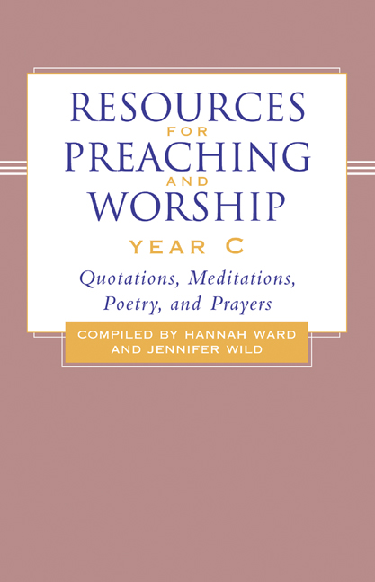 Resources for Preaching and Worship---Year C