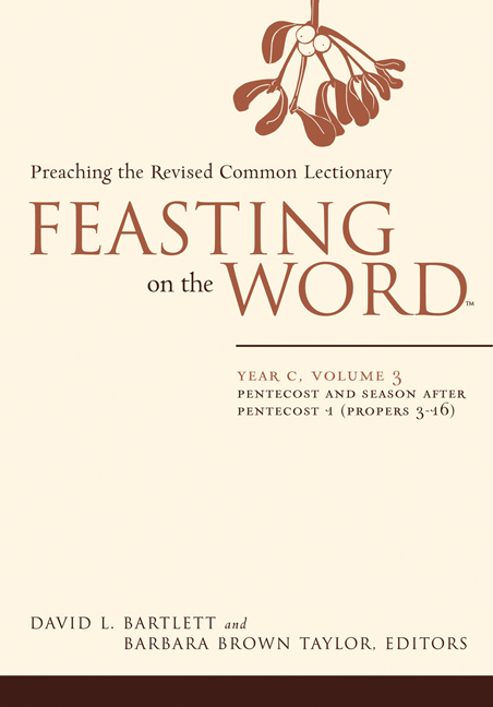 Feasting on the Word: Year C, Vol.  3