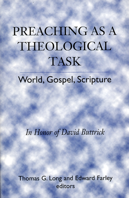 Preaching as a Theological Task