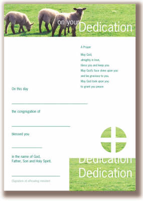Infant Dedication Certificates